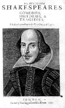 Droeshout Engraving - First Folio Portrait Page