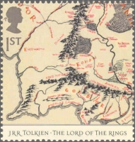 Map from the Lord of The Rings