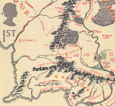 kart over midgard Map from the Lord of The Rings / Kart fra Ringenes Herre kart over midgard